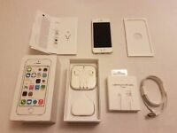 Apple iPhone 5S 16gb Silver/White Boxed Like New with all Accessories