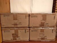 4x Arcoroc cup boxes