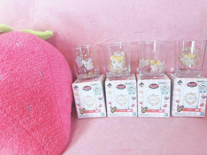 Hamtaro Glasses Cup Ichiban Kuji Complete Bundle Sale from JAPAN