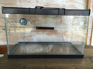 10 gallon glass fish/crab/reptile tank with lid