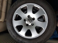 set of 4 audi alloys 15 inches