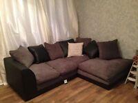 Byron Corner Sofa Right Hand - Grey & Black