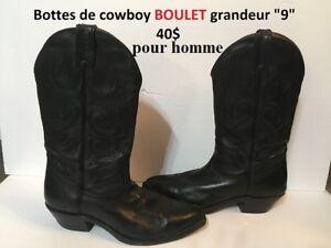 Bottes de cowboy BOULET pour homme à vendre
