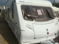 Ace surpreme twinstar fixed bed twin axle touring caravan