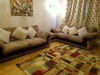 2 identical dfs sofas there 3 seaters plus footstool