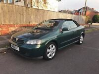 2002 VAUXHALL ASTRA CONVERTIBLE FSH, 12MONTHS MOT JUST BEEN DONE WITH CAR £650
