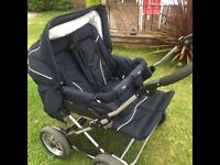 Emmaljunga double pushchair/buggy