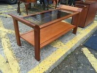 Gorgeous Vintage Teak Glazed Coffee Table