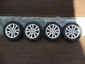"16"" Bmw alloy wheels with 225 50 16 tyres pcd 5x120"