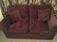 Pristine Purple two seater sofa