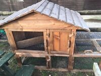 Large Rabbit hutch & run