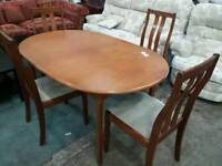 Merdew dining table and x 4 chairs. Excellent condition