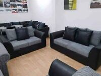 --CASH ON DELIVERY--NEW BYRON JUMBO CORDED + LEATHER CORNER OR 3+2 SEATER SET AVAILABLE