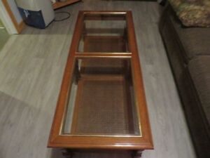 COFFEE & 2 END TABLES WITH GLASS TOP only $55!!