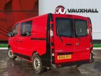 2016 Vauxhall Vivaro 1.6 Cdti 2900 Crew Van 5dr Diesel Manual L1 H1 Eu5 6 Seat 1