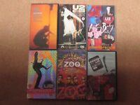U2 Job lot of 6 VHS Video Tapes