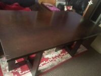 CHEAP ,,,,WOOD..TABLE , 82cm / 183cm, NOT CHAIRS