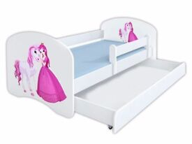 Girl Toddler Bed with mattress and drawer (2 weeks' old) - £100