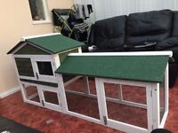 rabbit hutch with built in secure run