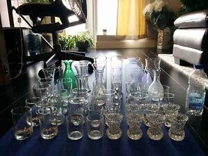 Assortment of vases/glassware used for wedding