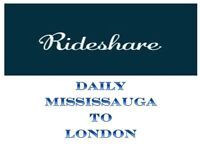 MISSISSAUGA TO LONDON DAILY (MONDAY TO SUNDAY)