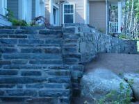 stonewalls and landscaping