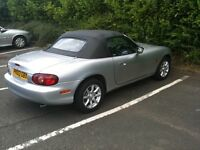 Silver Mazda MX5 - A great Project - Spares or Repair