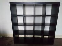 IKEA EXPEDIT BOOKCASE 4x4 brown/black