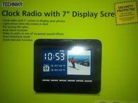 "Technika Clock Radio with 7"" Display Screen"