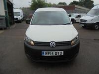 Volkswagen Caddy C20 1.6 Tdi 75Ps Startline Van Swb DIESEL MANUAL WHITE (2014)