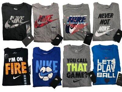 NWT Boys Nike T-shirt - Grey, Black or Blue - Boys T Shirts