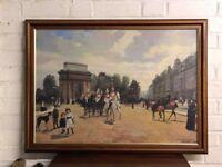 Life Guards passing Hyde Park Corner London 1885
