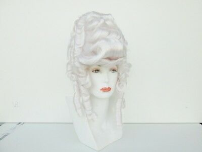 COLONIAL LADY COSTUME WIG MARIE ANTOINETTE VICTORIAN GIBSON QUEEN ELIZABETH WIG
