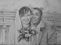 Pencil portraits from photos (Pets, Anniversary, Weddings, kids)