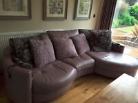 Beautiful 5 Seater Leather Sofa and Swivel Chair