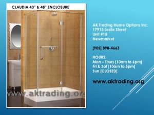 RECTANGULAR, SQUARE, NEO ANGLE, SEMI ROUND SHOWER STALLS W/BASE