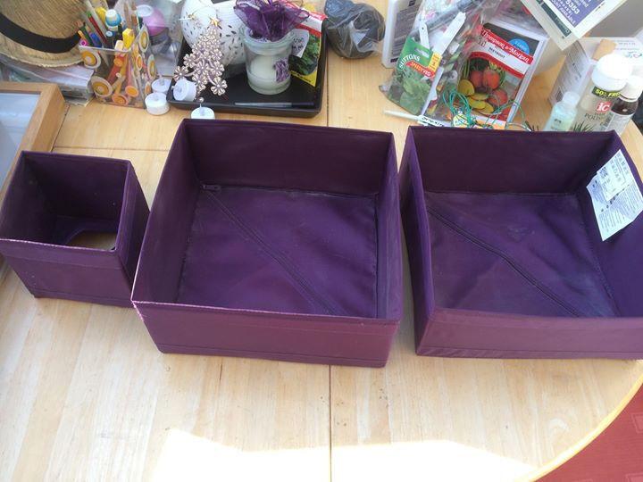 IKEA Purple Storage Boxes