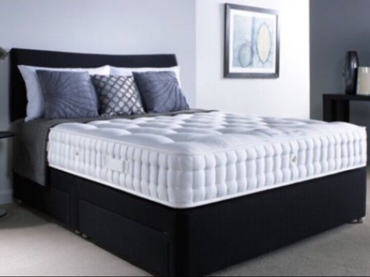 BEST DEAL black double bed complete set 🌟