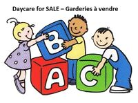 Daycare for SALE – Garderies à vendre (8000$/head )