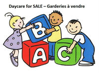 Daycare for SALE – Garderies à vendre