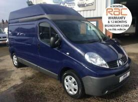 2012 62 RENAULT TRAFIC LWB HIGH ROOF 115BHP IN BLUE IDEAL CAMPER VAN DIESEL