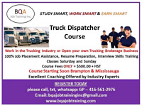 DISPATCHER COURSE YOU CAN START WK DAYS 6-8PM WKENDS 9-11!AM
