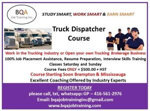 TRUCK DISPATCHER COURSE STARTING SOON ON  WEEKENDS