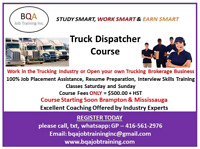 WEEK DAYS 6PM TO 8PM DISPATCHER COURSE IN BRAMPTON
