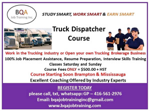 FREE DEMO CLASS DAILY 530PM FOR TRUCK DISPATCHER COURSE