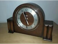 Vintage Art Deco clock with modern battery mechanism