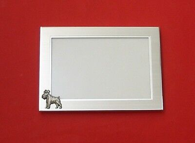 Miniature Schnauzer Motif 4 x 6 Picture Photo Frame Great Gift Vet Mother Gift