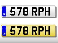 PRIVATE NUMBER PLATE 578 RPH