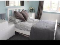 Ikea Hemnes European double bed with mattress