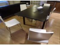 Expandable Dark Wood Table